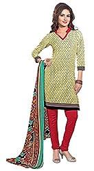 Beige Color Crepe Churidar Salwar Suit Unstitched Dress Materials