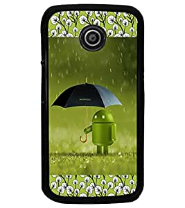 PrintDhaba Android D-2512 Back Case Cover for MOTOROLA MOTO E (Multi-Coloured)