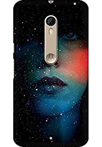 AMEZ designer printed 3d premium high quality back case cover for Motorola moto X style (abstract girl)