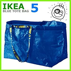 LARGE VOLUME ~ IKEA Tote Bags~ SET of (5)