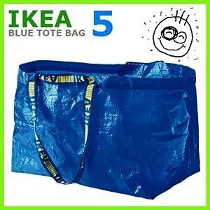LARGE VOLUME ~ IKEA Tote Bags~ SET of (5)