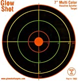 100 pack - 7 Reactive Splatter Targets - GlowShot - Multi Color - See Your Hits Instantly - Gun, Rifle & Airsoft Targets