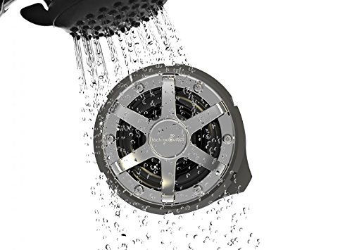Tech Acoustics IPX Grade Fully Waterproof Outdoor Bluetooth Speaker, Includes Suction Cup for Shower Use