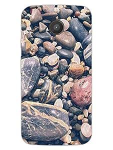 Moto E Back Cover - Pebbles - Full Of Stones - Abstract - Designer Printed Hard Shell Case