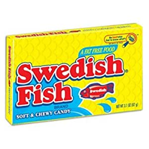 Original swedish fish red 3 5 ounce theater for Swedish fish amazon