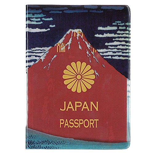 葛飾北斎 赤富士パスポートカバー