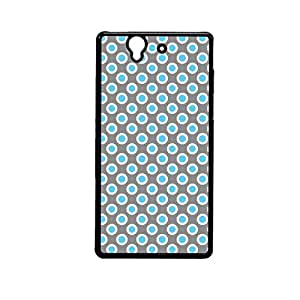 Vibhar printed case back cover for Sony Xperia Z BlueGreyDots
