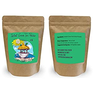 Instant Green Tea Powder - 100% Pure Tea - No Fillers, Additives or Artificial Ingredients of Any Kind (2 oz - appx 100 Servings)