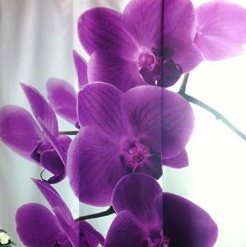 IKEA EMELINA Gardine 3 Teilig Schiebegardine Schiebevorhang Orchidee Blumen