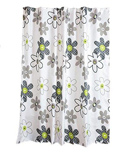 Fiore giardino stile di schizzo Tenda doccia bagno Spessore PEVA Muffa impermeabile Partizione tende Occhielli in ottone massiccio Tenda di portello , 150*180cm