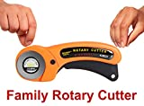 Paragon Crafts Multipurpose Rotary Cutter with 45 mm Blade Makes Fabric Cutting and Scrapbooking Easy. Comfortable Ergonomic Handle for Right and Left Handed Professionals and Hobbyists. Now Available with 3 Year Warranty.