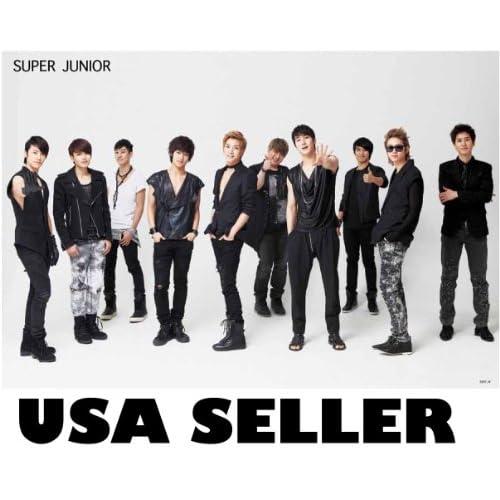 Super Junior plain white horiz POSTER 34 x 23.5 Superjunior SuJu Korean boy band Siwon Kyuhyun (poster sent from USA in PVC pipe)