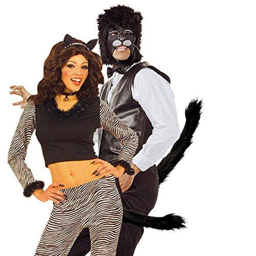 gato cola con goma accesorios para gatos disfraz cola gato gato schw nze carnaval accesorios