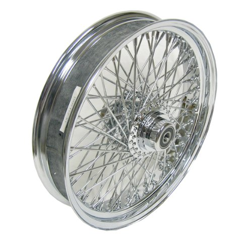 "Chrome 80 Spoke 18"" x 3.5"" Front Wheel For Harley 2000 Thru 2006 FL Softail Models"