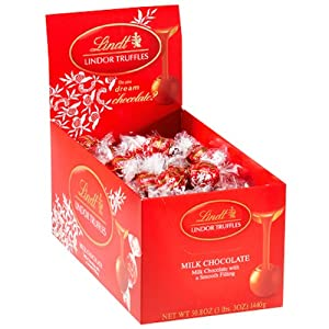 Lindt LINDOR Milk Chocolate Truffles ,120 Count Box