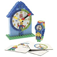 Lego Time Teacher Boy's Quartz Watch with White Dial Analogue Display and Blue Plastic or PU Strap 9005008
