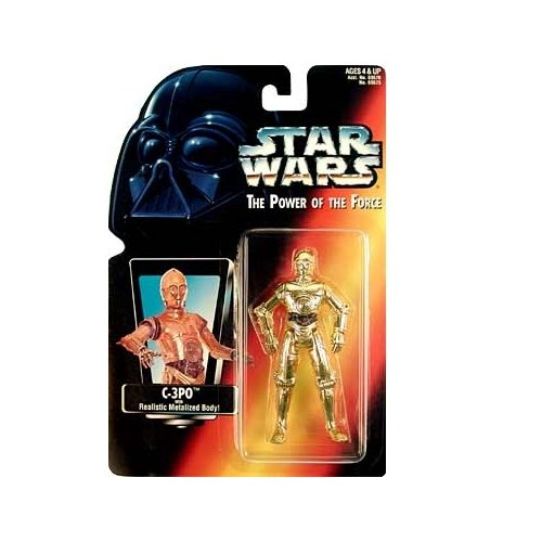 "Star Wars Power of the Force Red Card 3 3/4"" C-3PO Action Figure. - 1"