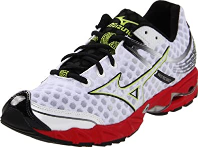 Mizuno Men's Wave Precision 12 Running Shoe,White/Anthracite/Chinese Red,12 D US