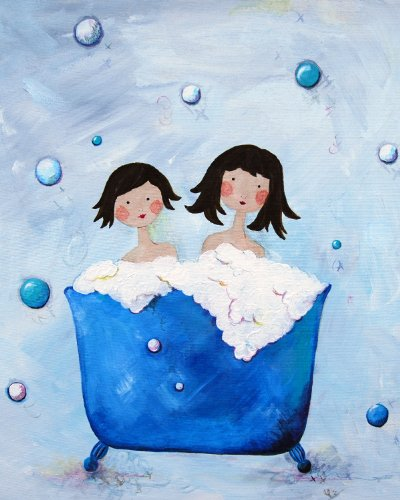 Cici Art Factory Wall Art, Double Bubble Brunette, Small