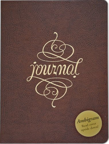 Ambigram Leather Journal (Diary, Notebook) [Leather Bound] [2009] (Author) Peter Pauper Press