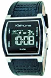 Kahuna KW06002G Mens digital black leather strap watch