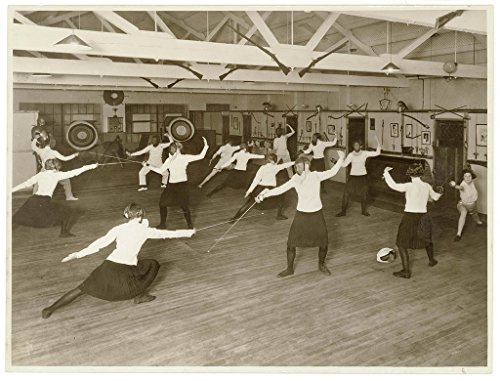 poster-men-and-women-fence-swords-club-1936-photogapher-sam-hood-format-photograph-new-south-wales-a