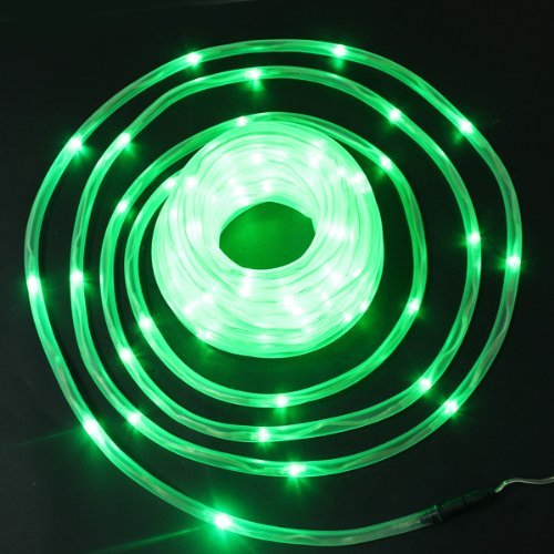BiggerStarhome New Green Solar Rope Tube 50 LED