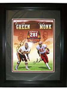 Signed Art Monk Photograph - Darrell Green 8x10 HOF Framed - Autographed NFL Photos