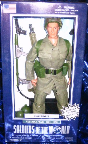 Buy Low Price Formative International Soldiers of the World Flame Gunner Vietnam Era 12″ Action Figure (B000NVQA46)