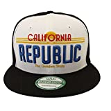 California Republic New Era Licence Snapback Cap Hat Black