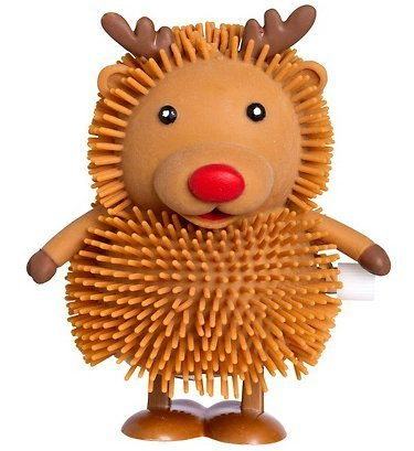 Cakesupplyshop Rudolph the Red Nose Reindeer Windup Toy 3 1/2in Tall.
