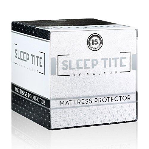 Sleep Tite by Malouf Hypoallergenic 100% Waterproof Mattress Protector- 15-Year Warranty - Queen