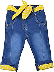 Little Kangaroos Baby Girls' Relaxed Jeans (HF18, Blue)
