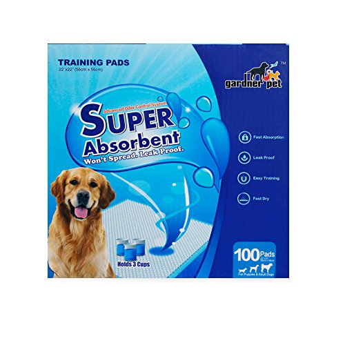 Gardner Pet Super-Absorbent 22 by 22 Inches Dog Training Pads - 100 Count of Pads (Animal Training Pads compare prices)