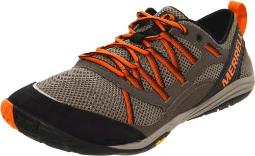 Merrell Men's Flux Glove Sport Boulder/Vibrant Orange Trainer J39393 8 UK