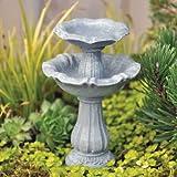 Fairy Garden Double Birdbath