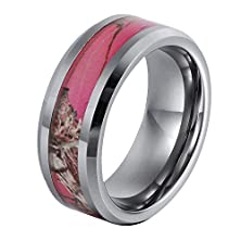 buy Ger 8Mm Women'S Tungsten Carbide Ring Camo Hunting Camouflage Wedding Band Pink Tree Size 8.5
