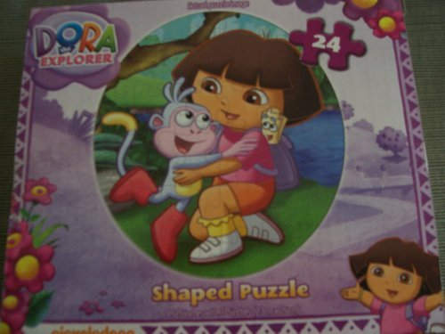 Dora the Explorer Shaped Jigsaw Puzzle ~ Hugs (24 Pieces)