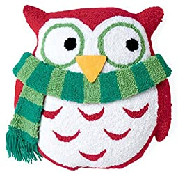 Boston International Owl 3D Hooked Pillow, 13.5-Inch Length by 14-Inch Height by Boston International
