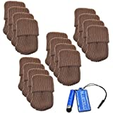 BCP 16pcs Brown Color Knitting Wool Furniture Socks/ Chair Leg Floor Protector (Brown Color)