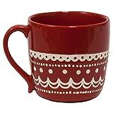 Hand Stitched Red Mug