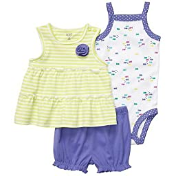 Carter\'s Baby Girls 3pc Bloomers Set (6Mos)