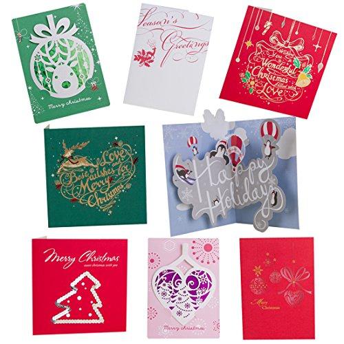 bhands weihnachtskarten gru karten klappkarten set 24. Black Bedroom Furniture Sets. Home Design Ideas