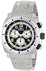 Invicta Men's 0616 II Collection Chronograph Black Dial Stainless Steel Watch