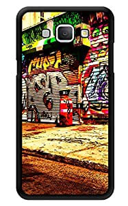 """Humor Gang Graffiti Old Shops Printed Designer Mobile Back Cover For """"Samsung Galaxy A8"""" (3D, Glossy, Premium Quality Snap On Case)"""