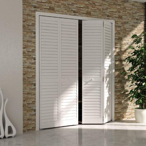Bi-fold Door, Louver Louver Plantation 1x24x80 White (24 X 24 Louver compare prices)