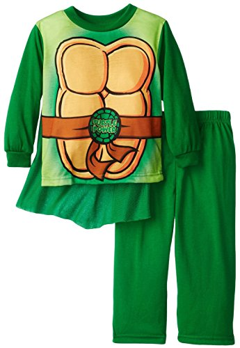 Teenage Mutant Ninja Turtle Uniform Toddler Pajamas With Cape For Boys (2T) back-1078494