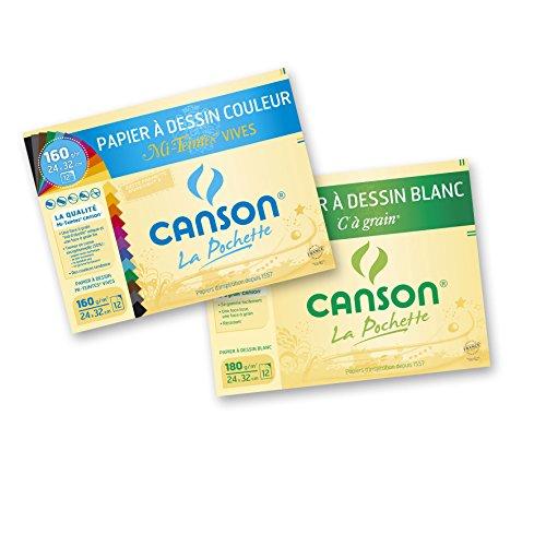 canson-lot-de-2-pochettes-papier-a-dessin-12-feuilles-24-x-32-cm-1-a-grain-180-g-blanc-et-1-mi-teint