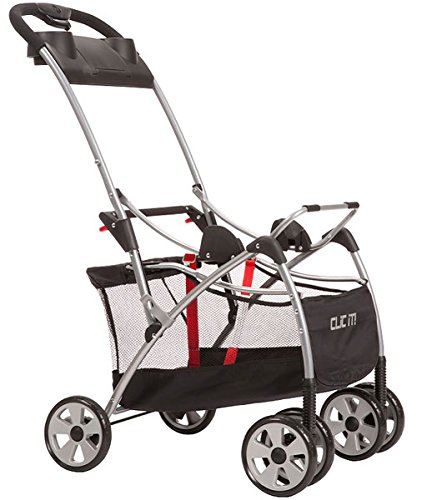Safety 1St Clic It Universal Infant Car Seat Carrier, Black/Silver front-907087