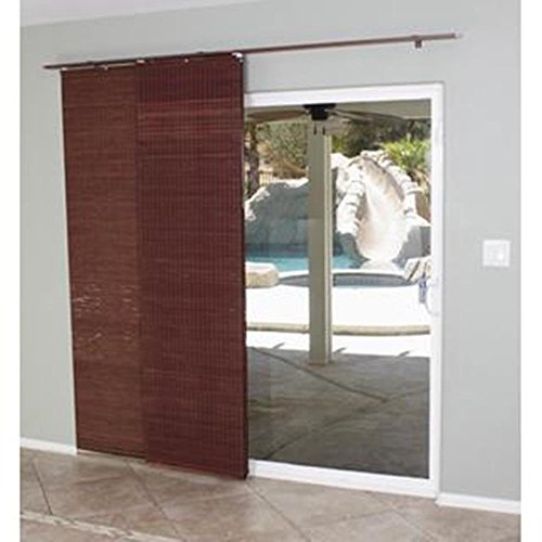 Lewis Hyman 0224114 Flat Stick Panel Track Shade, 78-Inch Wide by 84-Inch Long, Mahogany (Commercial Door Blinds compare prices)